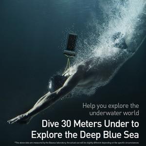 Image 2 - Baseus 7.2 inç su geçirmez telefon kılıfı çanta yüzme kiti evrensel cep telefonu kılıfı telefon kılıfı kapak Drift dalış sörf
