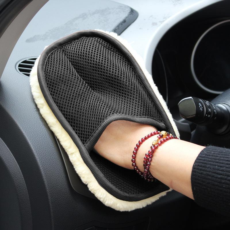 2019 Car Care Cleaning Brushes Wool Soft Polishing Washing Gloves Brush Super Clean Auto Motorcycle Washer Care Car Styling