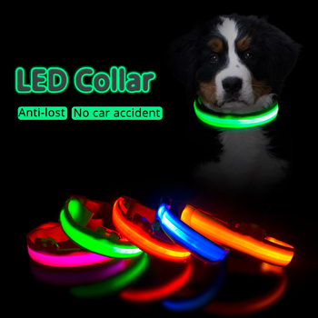 Collar de perro Led con carga USB, Collar antipérdida/evita accidentes de coche...