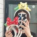 Супермилая мультяшная повязка на голову с бантом в Корейском стиле интернет-знаменитостей, забавная заколка для мытья лица с медведем, повя...