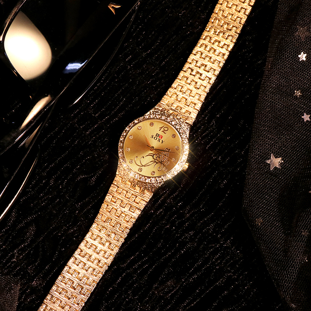 New Women Bracelet Watches Fashion Rhinestone Women's Watches Flower Butterfly  Exquisite Casual Ladies Watch Female Clock Accessories Female Watches Jewellery & Watches