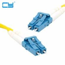 Cabo de remendo da fibra do lc do lc para o cabo de ligação em ponte do cabo do cabo de remendo da fibra do lc do duplex de sm monomodo optica para uma rede 3 m 5 m 10 m 20 m 10ft 16ft 33ft 66ft