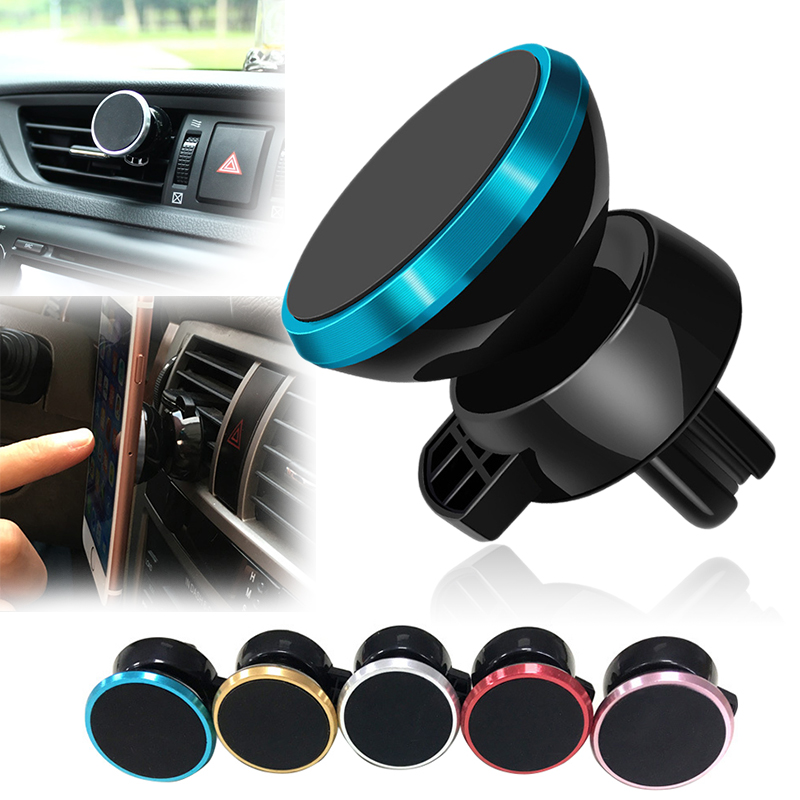 5 Colors 360° Car Mount Magnetic Phone Holder Car Air Vent Sticky Stand Holder For Xiaomi Huawei Apple Smart Phone Accessories