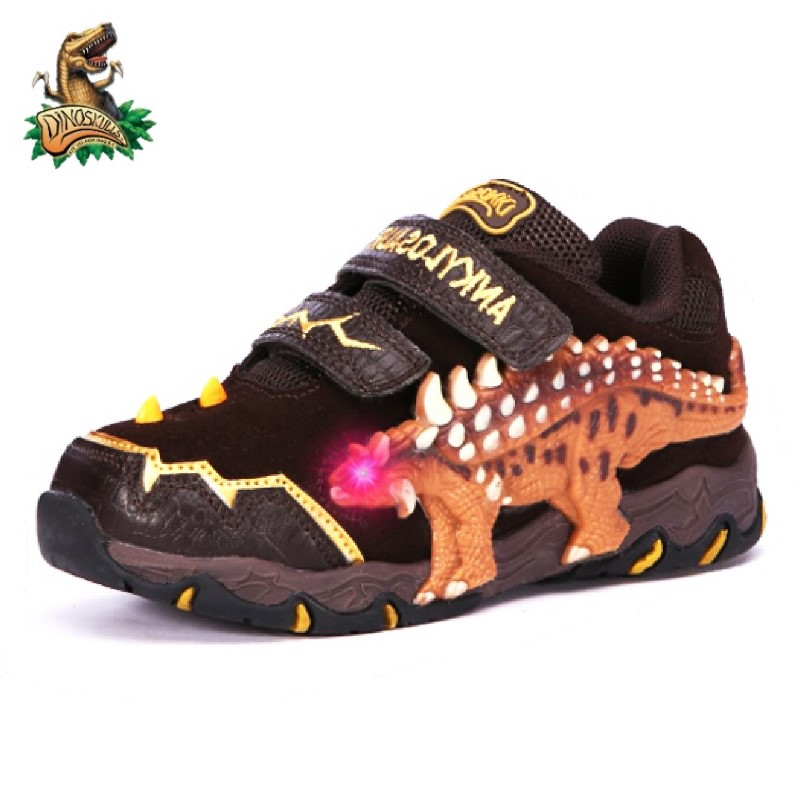 Clearance Sale Autumn Shoes For Kids 2-3 Years Dinosaur Led Light Glowing Sneakers Winter Children's Boys Outdoor Footwear
