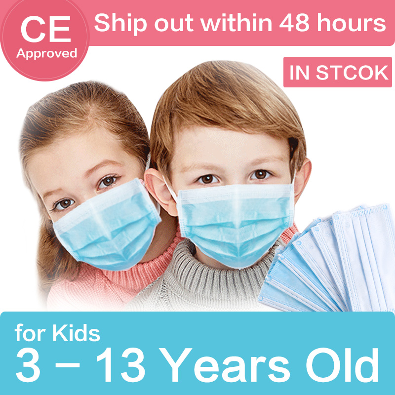 Kids Face Mouth Masks Anti Pollution Dust Children 3 Layers Mask Anti-Dust Protective Face Mask Masque Disposable