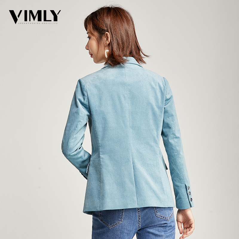 Image 3 - Vimly Office Ladies Solid Blazer Vintage Corduroy Women Business Jacket Coat Elegant Autumn Winter Outwear-in Blazers from Women's Clothing