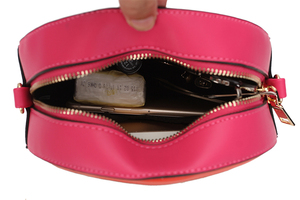 Image 5 - Fashion fun rainbow design stitching color cute casual ladies chain purse shoulder bag handbag womens crossbody messenger  bag