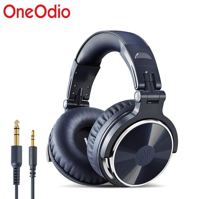 OneOdio orijinal kulaklıklar profesyonel stüdyo dinamik Stereo DJ mikrofonlu kulaklıklar kablolu kulaklık izleme telefon için