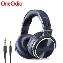 Oneodio original fones de ouvido profissional estúdio dinâmico estéreo dj fones com microfone com fio fone monitoramento para o telefone
