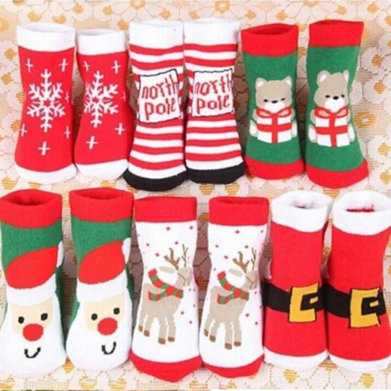 Girls clothes Cotton baby socks Christmas Socks For Boys Anti Pilling Toddler Warm Socks