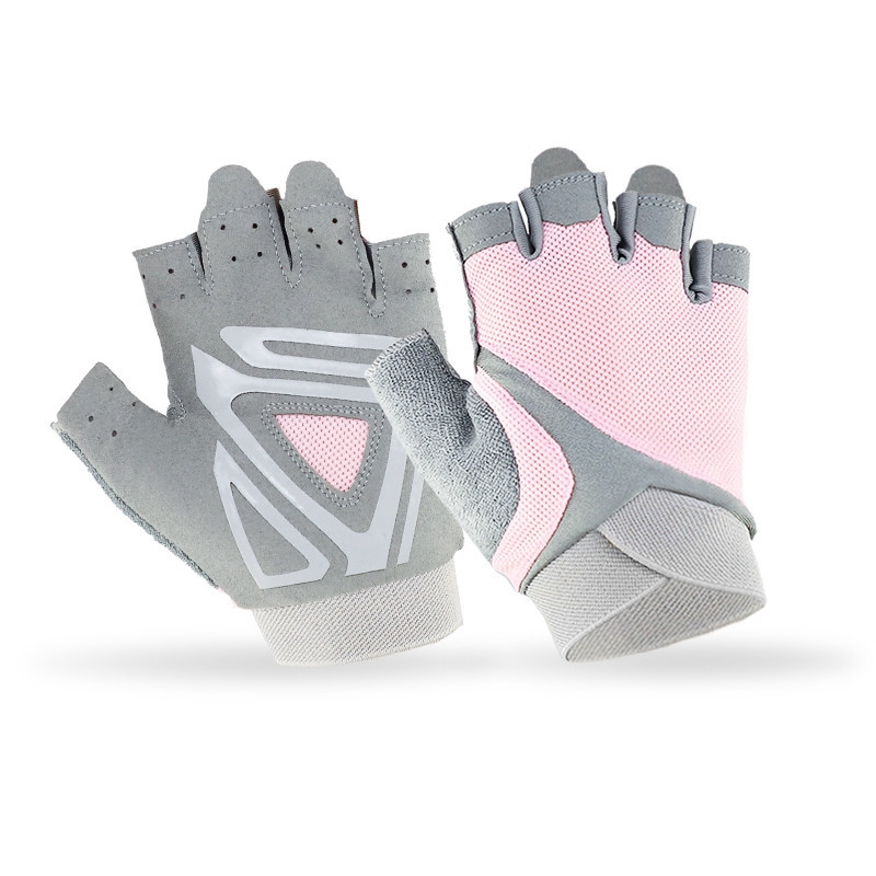 Breathable Fitness Gloves Half Finger Sports Riding Yoga Comfortable Lightweight Silicone Slip Gloves