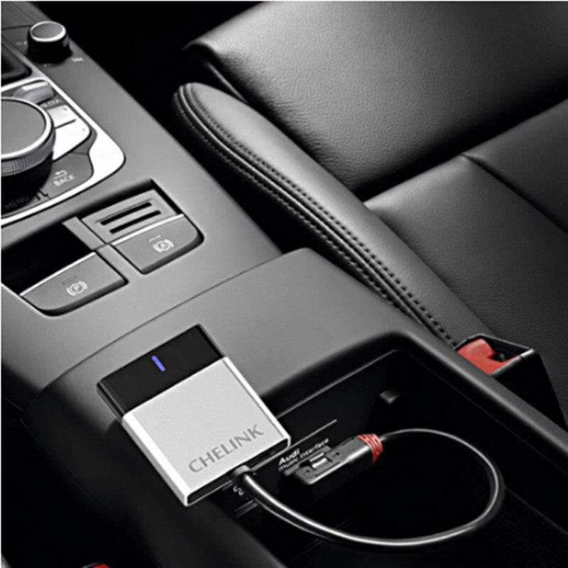 Le plus récent!! CHELINK voiture Kit musique Audio Bluetooth récepteur sans fil pour Audi et Benz adapté iPhone X 8 8plus 7 iPad et Android