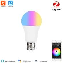 Tuya inteligentna żarówka Zigbee inteligentna żarówka ledowa RGBCW Zigbee E27 inteligentna Zigbee 3.0 Blub Smartthings Alexa Google Home kompatybilny