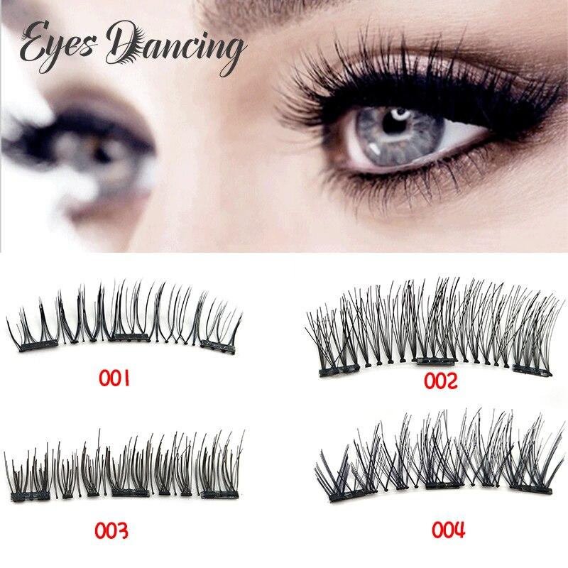 US $2.36 50% СКИДКА|Глаза танцы 1 пара 3D накладные ресницы ручной работы натуральные магнитные ресницы полная полоса ресницы для глаз Магнитный макияж Удлинительный инструмент|  - AliExpress