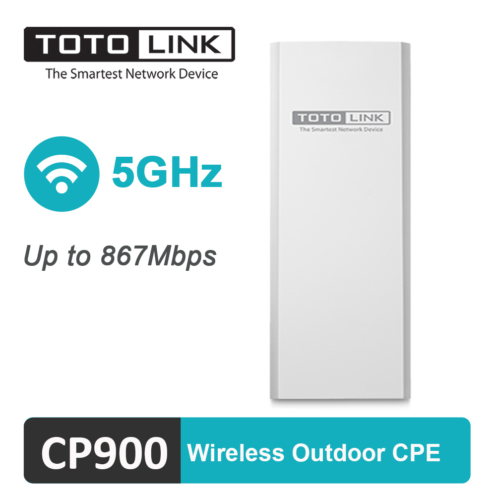 TOTOLINK Wireless Outdoor CPE CP900 5GHz 900Mbps 12dBi Antennas 15KM Long Range Wifi Bridge Router Repeater Access Point image