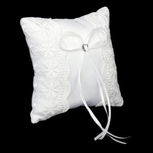 Image 2 - Lace Flower Ring Bearer Pillow Cushion Decorated Bridal Wedding Ceremony Pocket Wedding Accessories Decoration