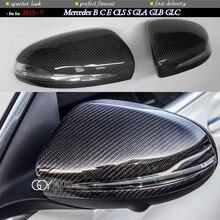 Carbon Fiber Door Mirror Cap Covers for Mercedes B C E S CLS GLA GLB GLC W205 W247 H247 X247 X253 C253 W222 C217 W213 C257