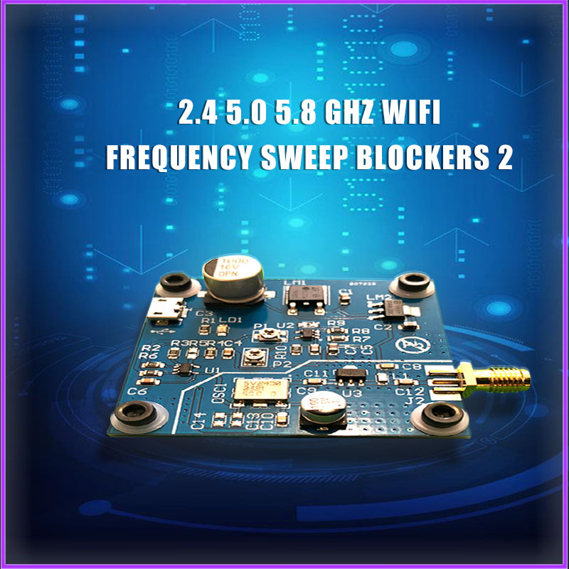 2.4 5.0 5.8GHZ WiFi Swept Jammer Shield 2.4G WiFi Jammer Development Board Distance 5 ~ 10 Meters T1