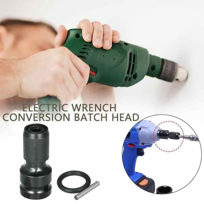 "Screwdriver Bit Conversion Tool Adapter 1/2"" Inch Square Drive To 1/4"" Inch Hex Shank Quick Change Socket Adapter Impact Driver"
