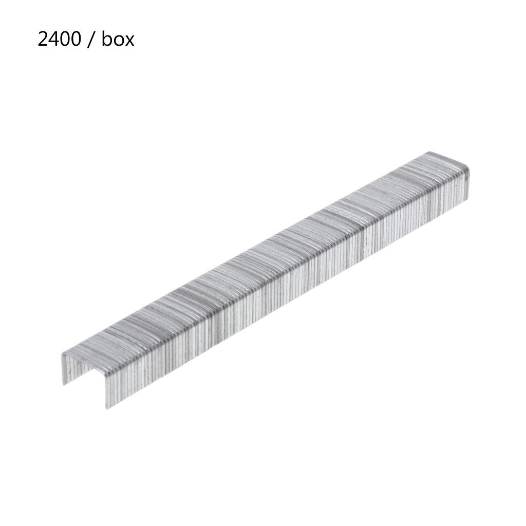 2400 pces porta em forma de grampos 10x8mm pregos para grampeador arma de grampo suporte do navio da gota