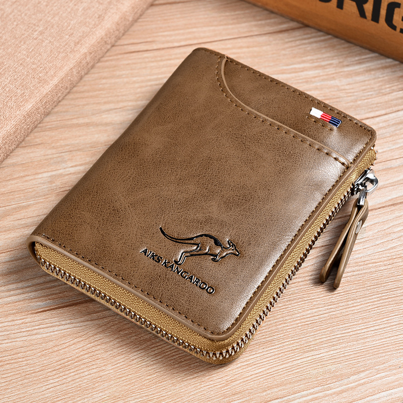 Men's anti-theft swipe card anti-magnetic wallet