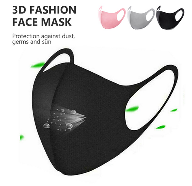 New Kpop Cotton Black Gray Pink Valve Mask Mouth Face Masks Anti PM2.5 Dust Maske Washable Reusable Mouth Cover PM2.5 Filter 4