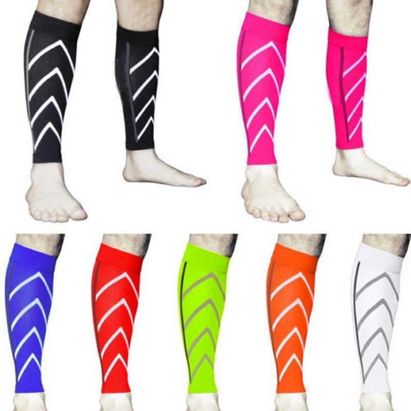 Yeni 1 çift buzağı desteği mezun sıkıştırma bacak kol çorap açık egzersiz spor güvenlik DO99