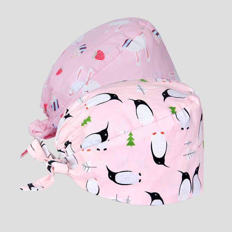Wzory sprzedaży lub czapki chirurgiczne odzież medyczna czapki dla kobiet mężczyźni weterynarz pielęgniarka lekarz czapki robocze dentysta szpital czapka z czaszkami