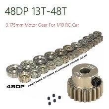 48DP 3.175mm 13T-15T 16T-18T 19T-21T 22T-24T 25T-27T 28T-30T 31T-33T 34T-36T 37T-39T 40T-42T 43T-45T 46T-48T Pinion Motor Gear