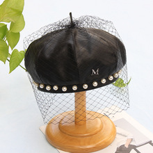 Beret-Hat Lace Female French Pearl Winter Women New-Fashion Autumn Brand Quality