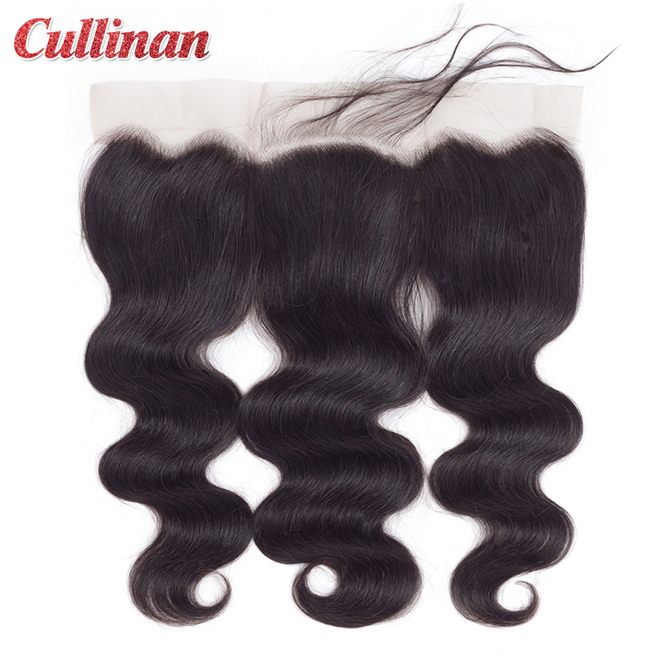 Body Wave Closure Pre Plucked 13x4 Lace Frontal Peruvian Human Hair Closure With Baby Hair Cullinan Remy Natural Color 8