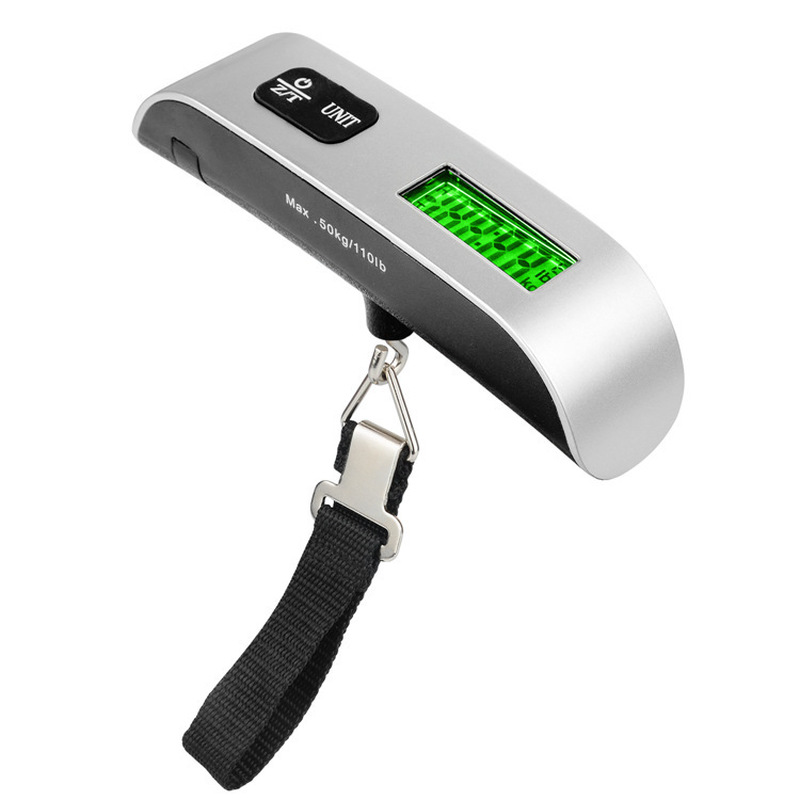Купить с кэшбэком 50kg x 10g Mini Portable Electronic Scale Weight Luggage Scale Digital Travel Hanging Hook Scale