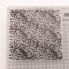 Flower Lace Design Christmas Plastic Embossing Folder For Scrapbooking DIY Photo Album Card 15x15cm
