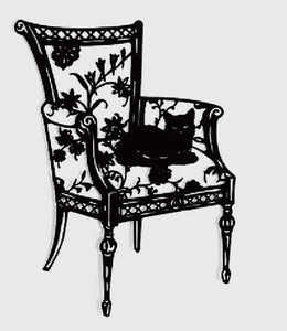 Lace Edge Chair and Cat Metal Cutting Dies Decorative Scrapbooking Steel Craft Die Cut Embossing Paper Cards Photo Stencils Dies