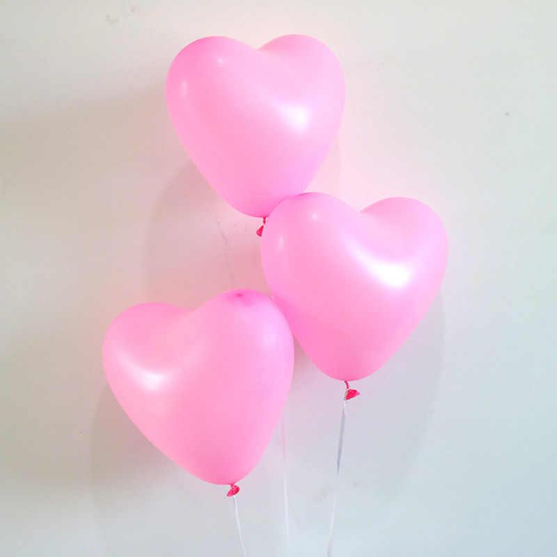 10 יח'\חבילה רומנטי 10 אינץ אהבת לב לטקס הליום בלוני חתונת קישוט הגלובלי האהבה יום שמח מסיבת יום הולדת בלון