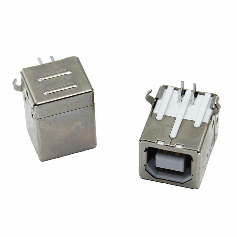 Bricolage 10 pièces/lot Type de USB B plat connecteur femelle G45 pour imprimante Interface de données connecter adaptateur prise PCB SDA câble fil