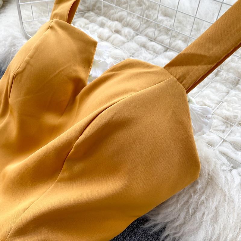 Elegant Vintage Sleeveless V-Neck Bandage Dress 15