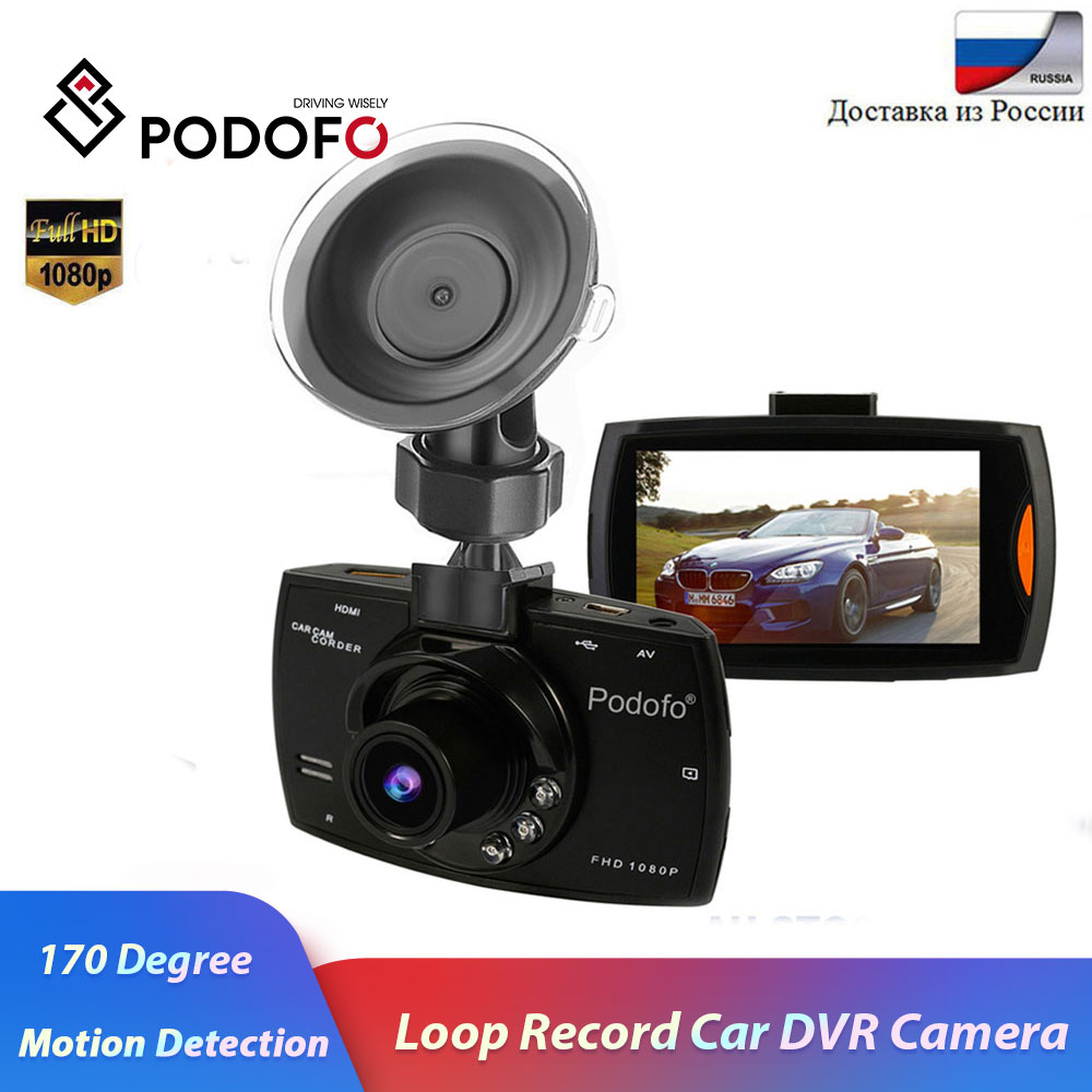 Podofo Car-Dvr-Camera Dash-Cam 170-Degree Dvrs G-Sensor Video-Registrars Night-Vision