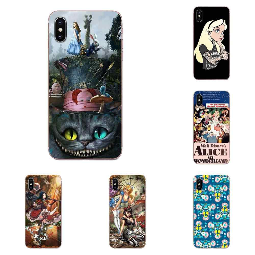 สำหรับ Huawei Honor Mate Nova หมายเหตุ 20 20 S 30 5 5I 5T 7C 8A 8X9X10 Pro Lite เล่น Soft TPU Luxury Alice In Wonderland Punk Design