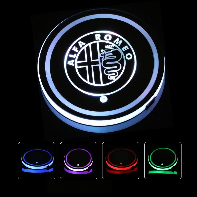 Car Ashtray LED Blue Light Ashtray Office Ashtray for ALFA Romeo Mito 147 156 159 166 Giulietta Spider Black
