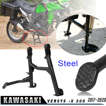 For Kawasaki Versys X300 Versys-X 300 2017-2020 Centerstand Center Kickstand Foot Side Stand Parking Support  X-300 Accesories obdstar x300 pad2 x300 dp plus c package full version 8inch tablet support ecu programming and toyota smart key