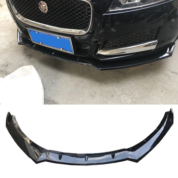 цена на high quality Carbon fiber or ABS material Front Bumper Chin Lip Spoiler for Jaguar XF 2016 2017 2018 Tuning Parts