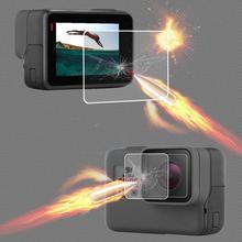 Защитное покрытие из закаленного стекла чехол объектива ЖК-дисплей кожа Экран Защита Для GoPro экшн-камеры Go pro Hero5 Hero6 Hero7 Hero 5/6/7 черный камер