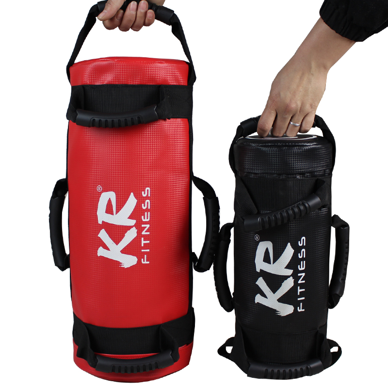 Unfilled Power Bag Fitness Body Building Gym Sports Crossfit Sand Bag Muscle Training PU Leather Heavy