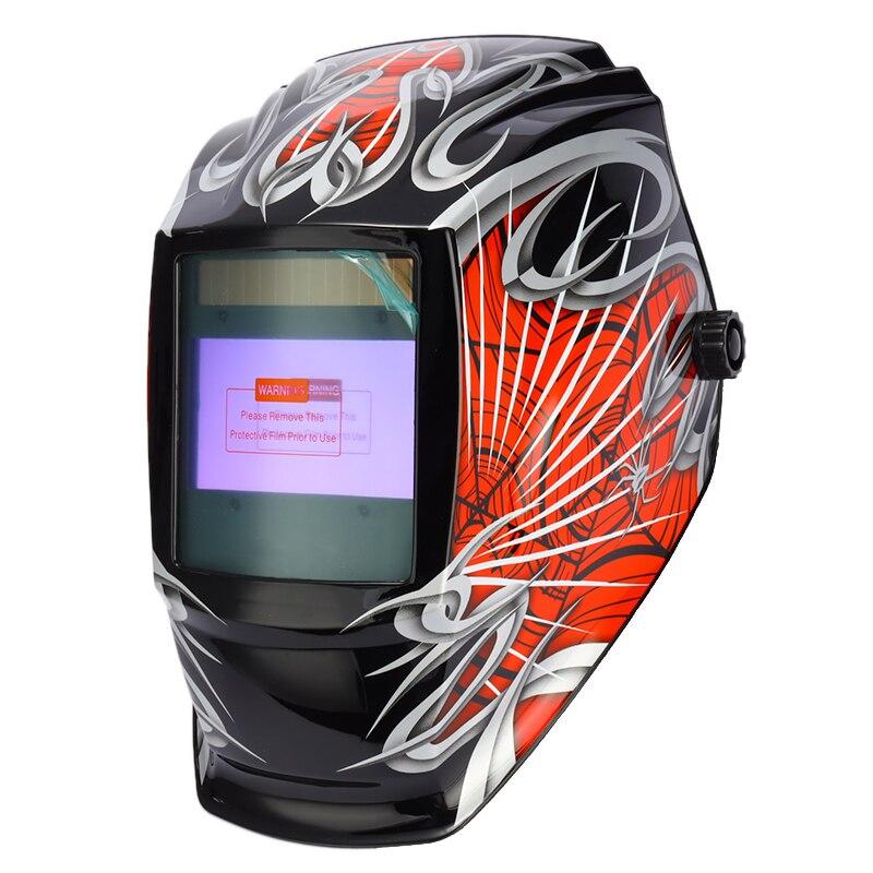 Solar Mask View Welding Helmet Big Welder Auto Darkening Grinding Polish Battery Rechangeable Sensor Goggles Shading 4 Arc
