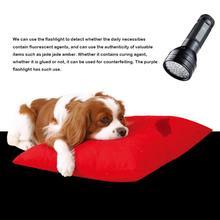 УФ-Фонарик 51LED Ультрафиолетовый факел лампа УФ-фонарик черный свет для домашних животных мочи пятна детектор собак товары для животных, кошек