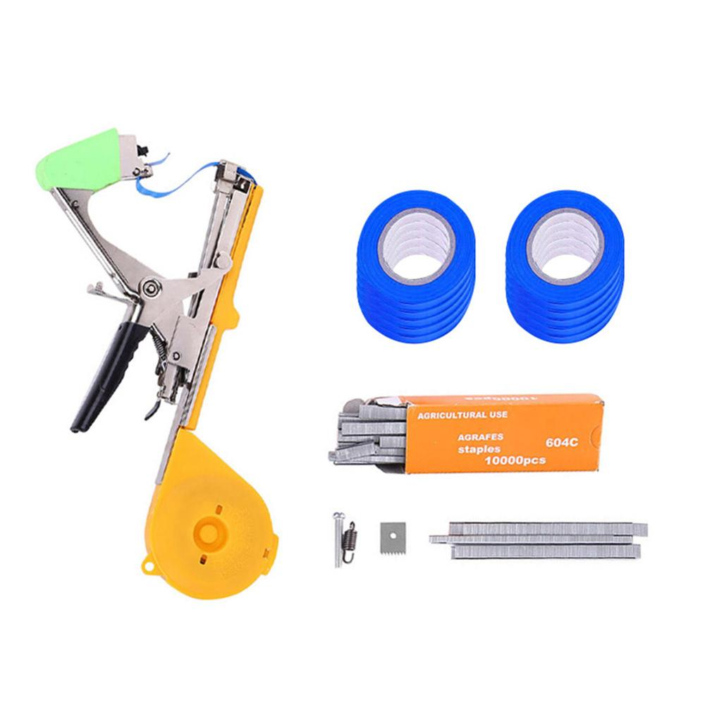 Branch Tying Machine Kit For Vegetable Grape Tomato Cucumber Pepper Flower Cutter Alloy +PP Plant Tapetool Tapener