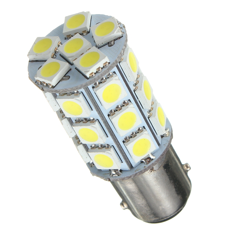 DC12V 1157 BAY15D 5050 SMD 4W 324LM 27 Auto <font><b>LED</b></font> Tail Anchor Reverse Light Lamp Corn <font><b>Bulb</b></font> Pure White 6000K Dropship image