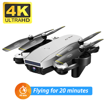 New WiFi FPV RC Drone 4K with Dual Camera 50x zoom Selfie Professional Foldable Optical Flow Quadcopter Helicopter