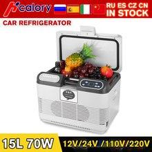 15l casa/carro geladeira controle lcd automoble geladeira geladeiras freezer caixa de resfriamento frigobar alimentos armazenamento geladeira compressor